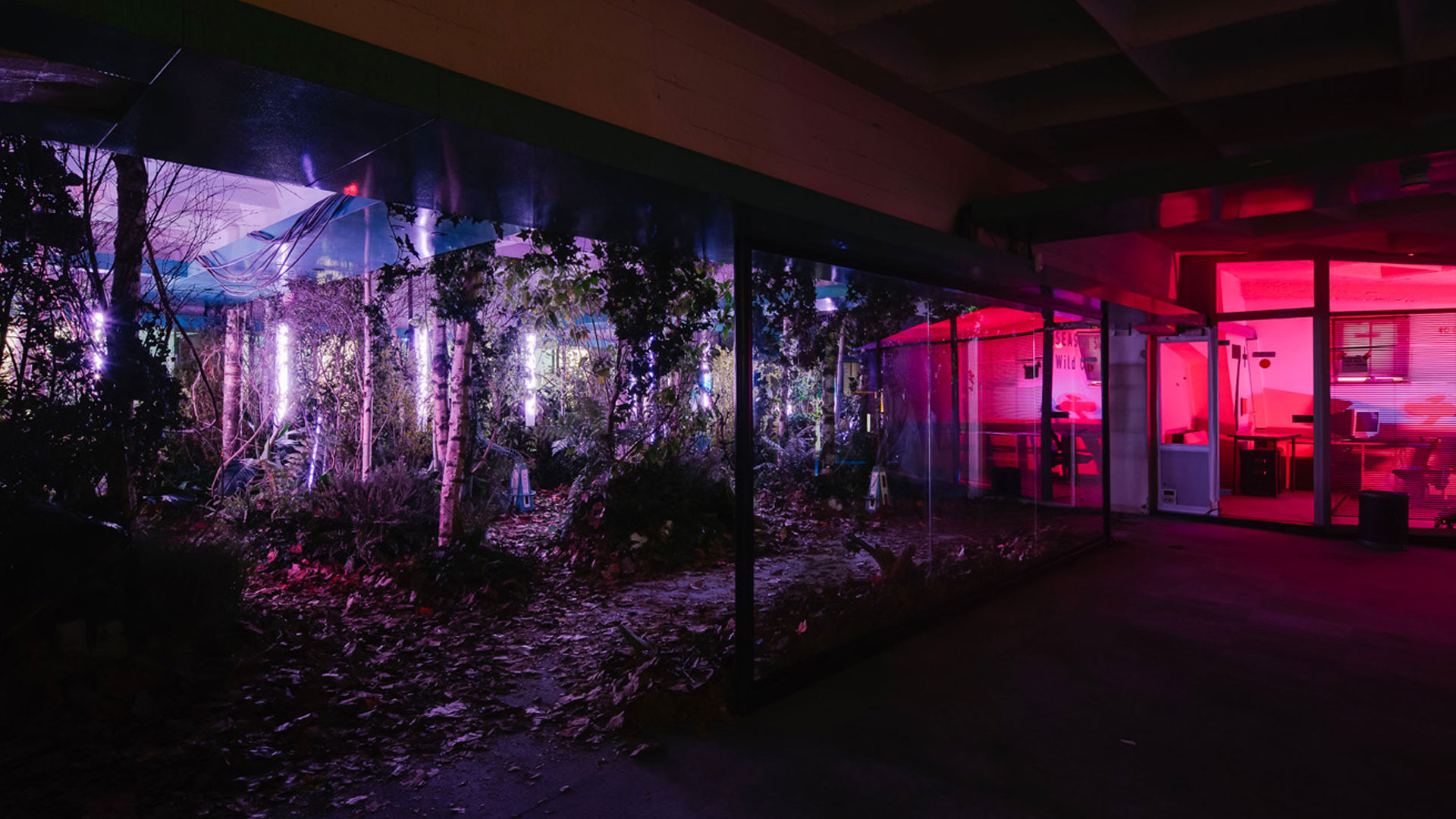 Scénographie végétale Adidas Studio Marianne guedin