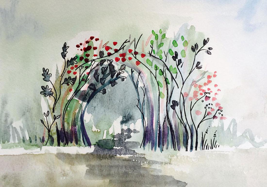 Scénographie végétale Weleda Marianne Guedin