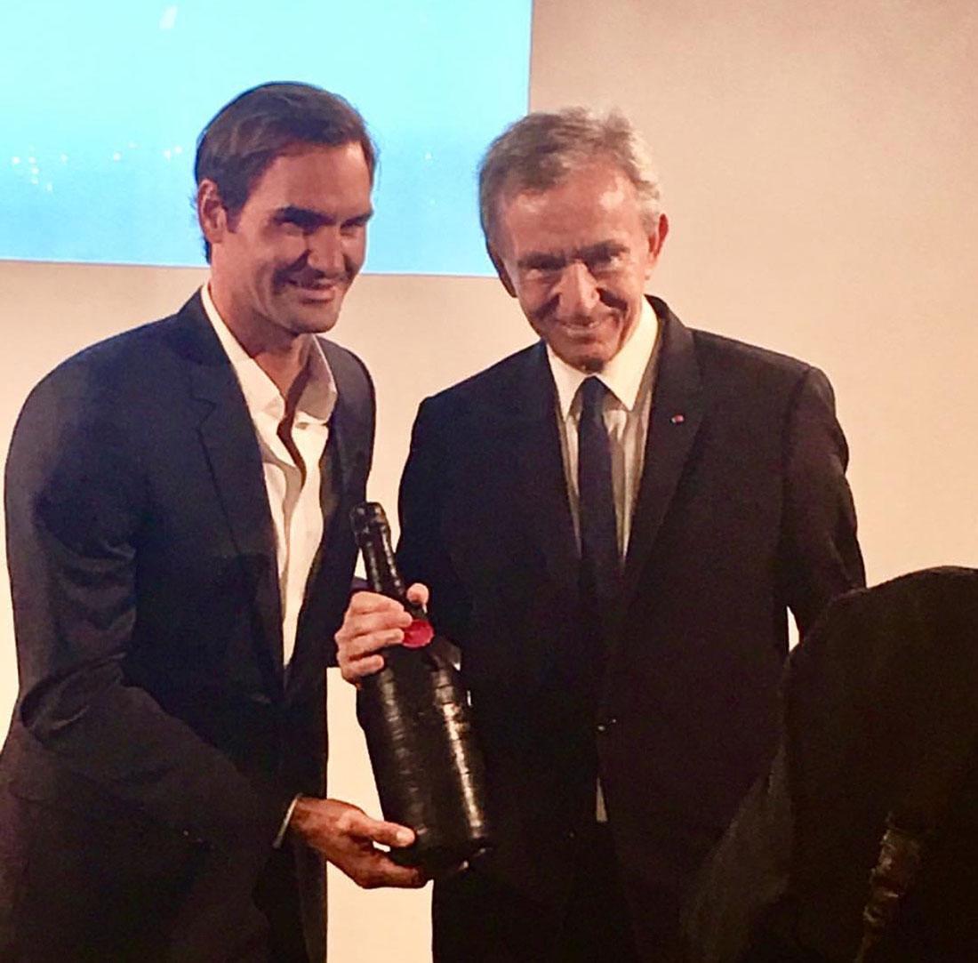 Scénographie végétale 20 ans de Roger Federer Marianne Guedin