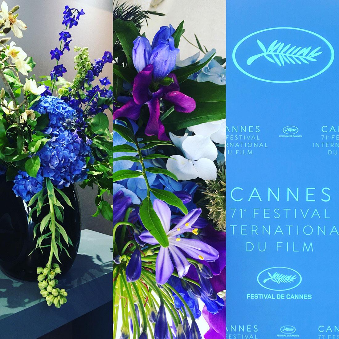 Scénographie végétale Festival de Cannes Diner Ouverture officielle Marianne Guedin