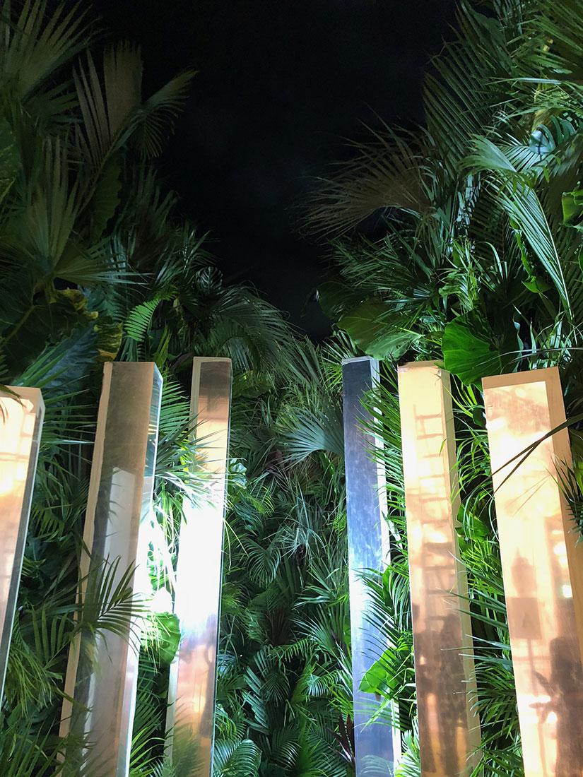 Scénographie végétale Azzaro Défilé Marianne Guedin