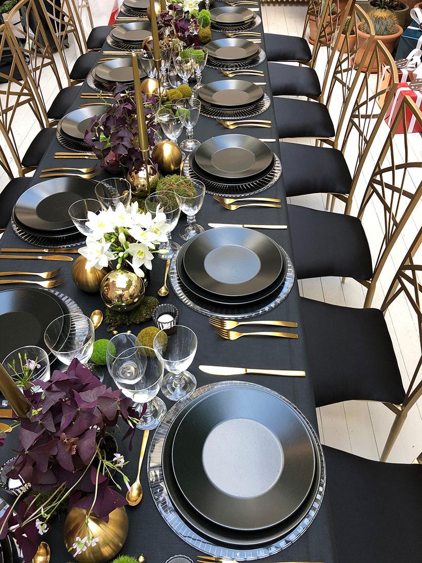 Scénographie végétale Table de Noel Pierre Marcolini Marianne Guedin