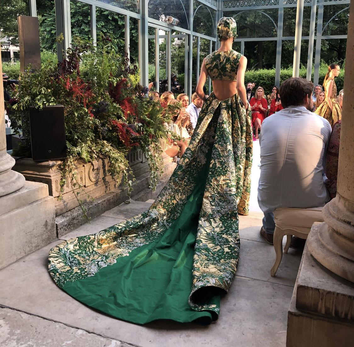 Scénographie végétale Valentino Couture 2018 Marianne Guedin
