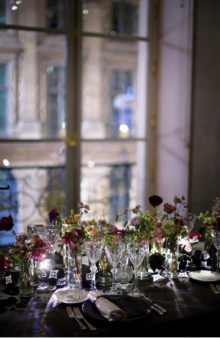 chemin de table fleuri louis vuitton marianne guedin