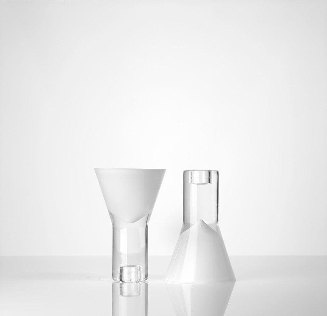 Vase vice versa blanc double Marianne Guedin