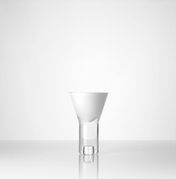 Vase vice versa blanc simple Marianne Guedin