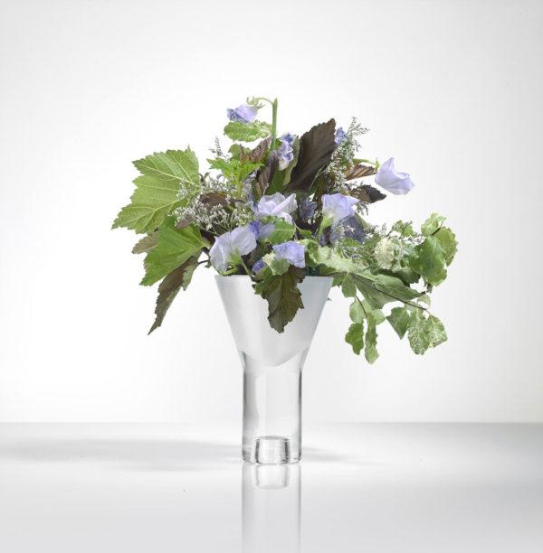 Vase vice versa blanc simple Marianne Guedin ter