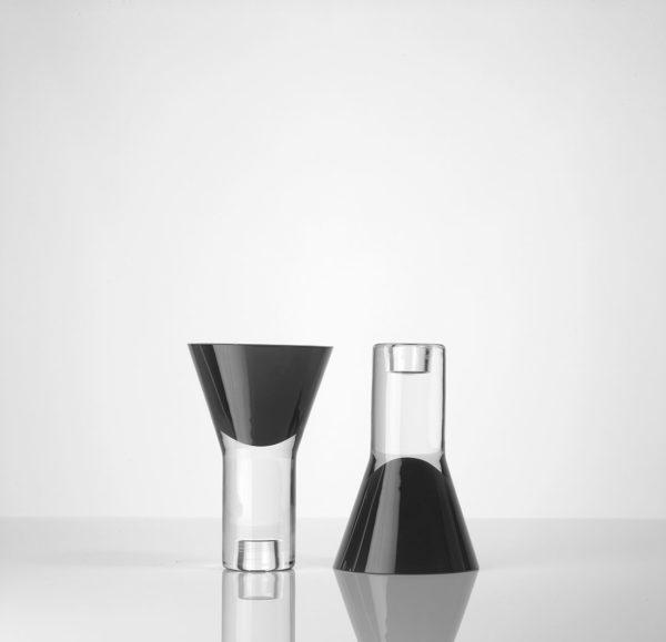 Vase vice versa noir double Marianne Guedin